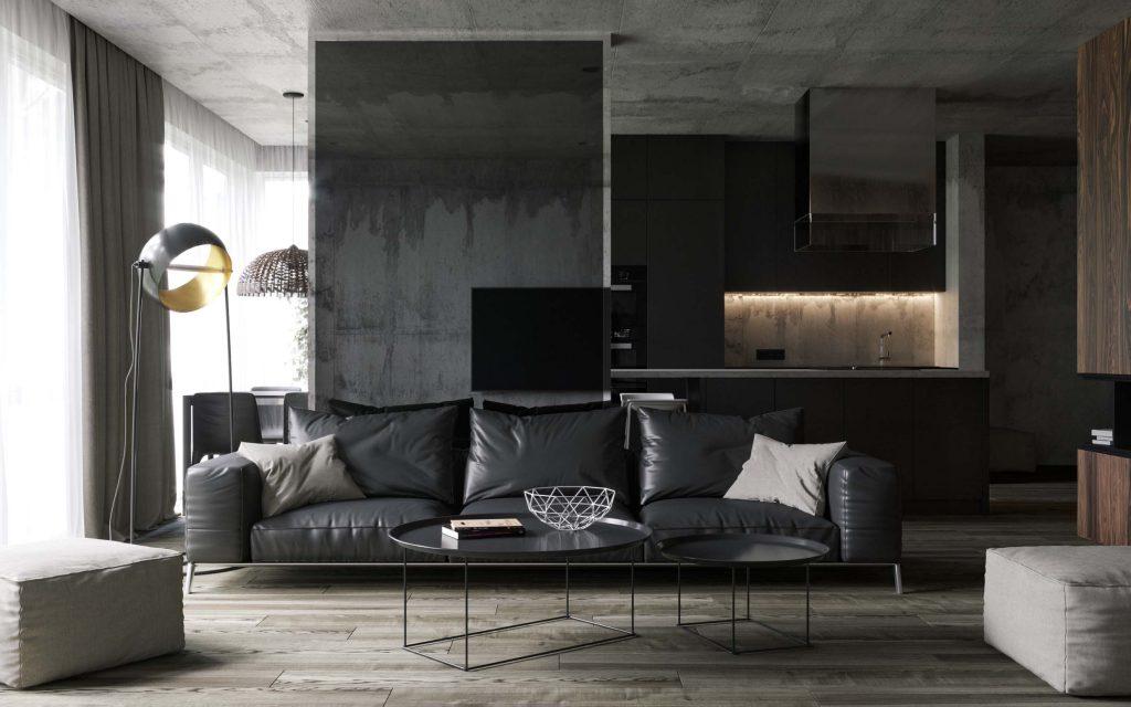 design interior living contemporan apartament