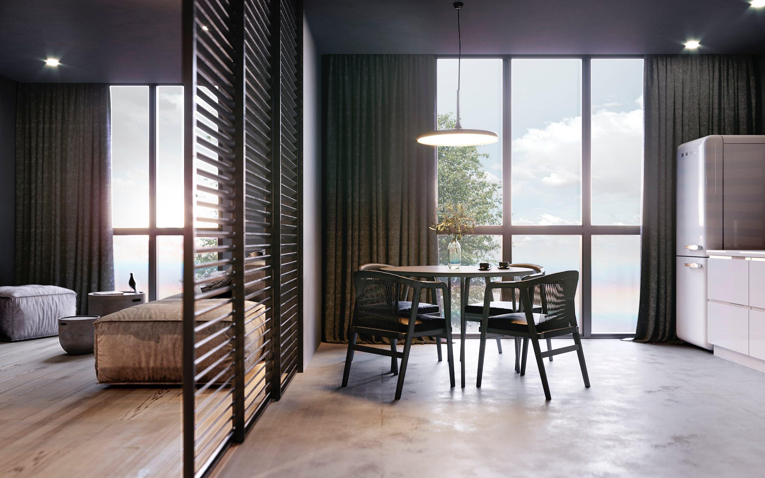 amenajare interioara bucatarie in stil minimalist