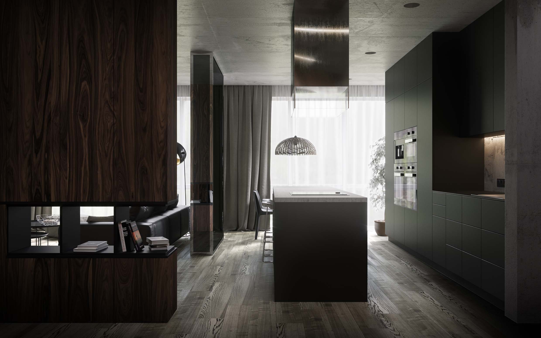 дизайн интерьера и элементами промышленного декора