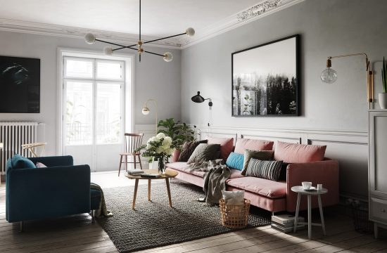design interior living room in stil scandinav chisinau polyart