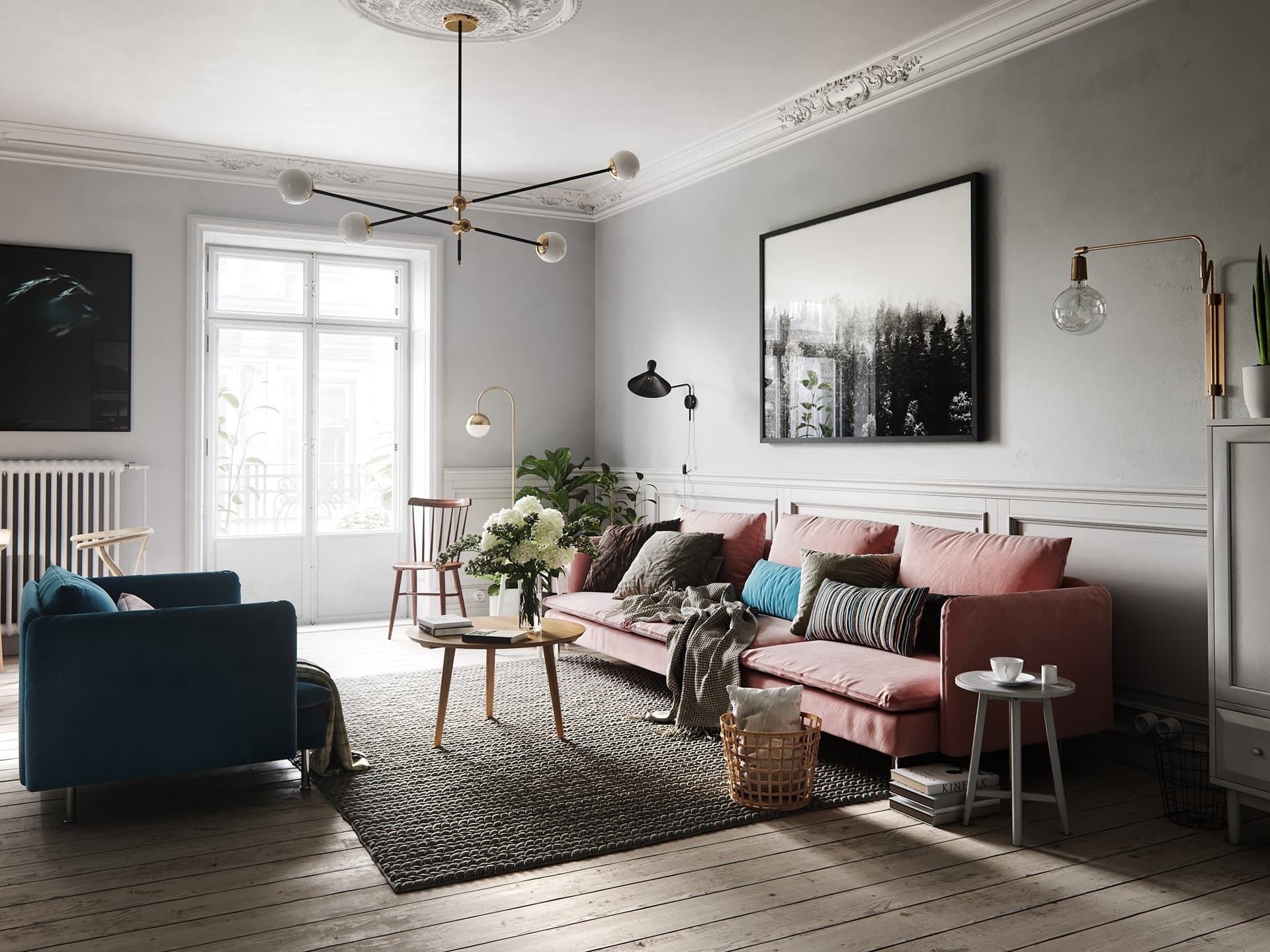 Scandinavian interior living