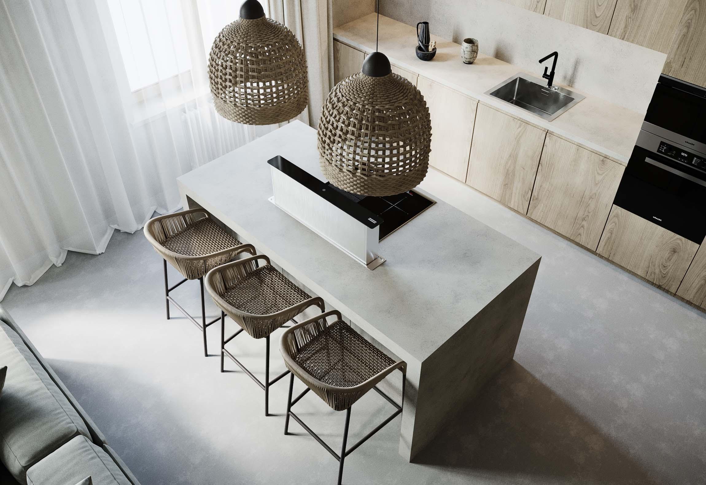 bucatarie design interior in stil minimalist