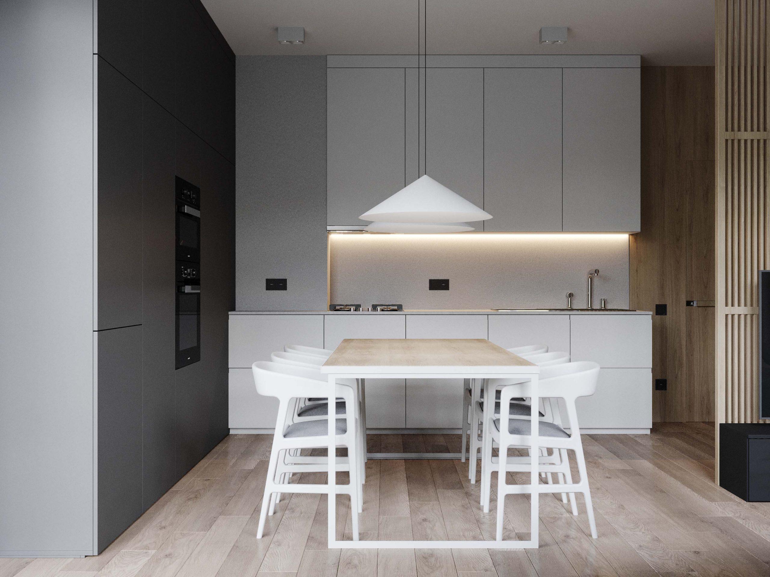 minimalist style kitchen interior design